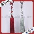 Rhinestone fora bola de cristal cortina Tassel Tiebacks para cortina e têxteis lar decoração, Design de moda