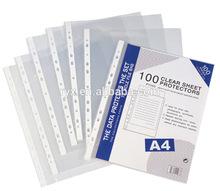 guangzhou manufacturer make pocket clear sheet protectors RYX-SP099