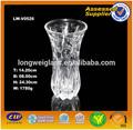 24cm gravado folha vaso de vidro transparente vaso de vidro pequeno