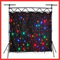 Wlk-1f nero ignifugo panno di velluto quattro led stella sfondo curtainlight luce del proiettore