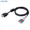 High quality 3 rca to vga converter cable supports 4.95Gbps bandwith