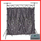 WLK-1W Black fireproof Velvet cloth white leds curtain backdrop musical and dj equipments in guangdong