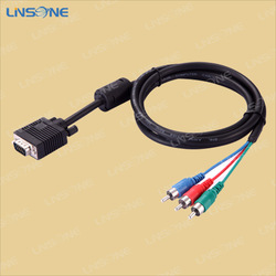 Factory price vga to rca cable/vga cable to connect laptop to tv