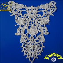 embroidered cotton applique lace collar Kurta