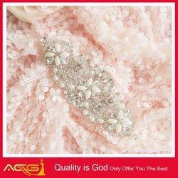 Sew On Glass Crystal Rhinestone Silver Metal Wedding Applique Beaded crystal diamonds curtains
