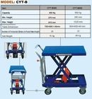 HERCULES Mobile Scissor Lift Tables--steel top painted blue