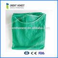 Não tecido descartável consumíveis médicos enfermeira verde vestido