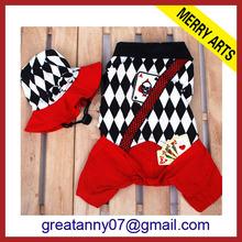 2014 Hot wholesale Unique design Red Winter and Autumn christmas pet clothes set panda dog nice coat pet