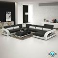 Extra larga U sharped cuero sofá de cuero sofá seccional sofá muebles