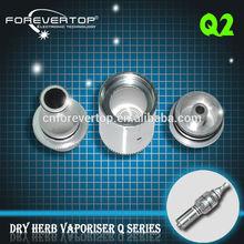 Fabricante de China recién diseño hermoso tuta Q2 vaporizador para hierba seca Q2 de cigarrillos