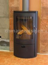Metal sheet wood burning stove
