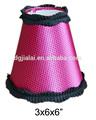 Preto / vermelho capa dura mini lâmpada shades para a sala do miúdo