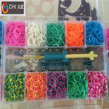 2014 hot selling 3300pcs loom bands sets & rubber bands whoelsale