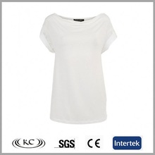 cheap price sale online 95% cotton 5% polyester white women tshirts blank