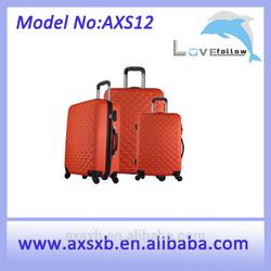 ABS waterproof oil proof ABS+PC travel trolley hard shell zipper case in 20, 24, 28