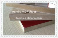 MDF with acrylic sheet laminated