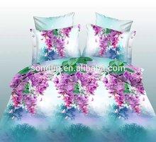 3D Flower Disperse Print Polyester Bedsheet