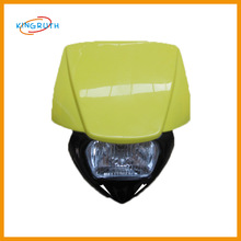 Wholesale high quality dirt bike motorcycle headlight application guide