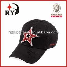 denim fabric caps 6-panel plain for tennis long brim golf cap