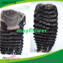 Virgin human hair natural color jewish kosher european hair wig deep wave