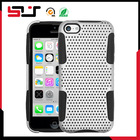 Wholesale protective fancy mesh combo case for iphone 5c