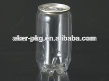 Venta al por mayor 330 ml fácil apertura tapa de aluminio de jugo de plástico puede botella de agua de soda, Cerveza uso
