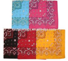 fashion paisley cotton printed fancy bandanas