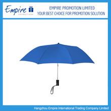 Solid Color Blue Wind Assistant Promotional Umbrella 3 Fold