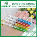 venta al por mayor baratos de líquido de colores forma jeringa bolígrafo papelería creativa dentista regalo del partido
