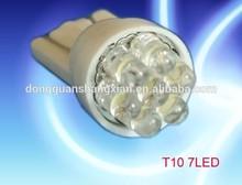 T10 194 led bulb 12V T10 7leds wedge light t10 Led Auto dashboard light