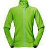 Green polar microfleece jacket fleece out wear women