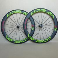 UDELSA ORIGINAL BRAND carbon racing wheels 700C aero spoke bike wheels 60mm