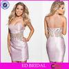 NC821 Crystal Beaded Sweetheart Lavender Satin Smart Cocktail Dress