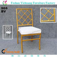 Da sposa di lusso sedia 5 anni di garanzia, vernice spray oro sedia di bambù