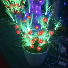 Decorative artificial led fiber optic flowers