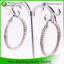 professional custom crystal jewelry ladies earrings designs pictures