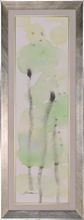 Green lotus leaf impression canvas framed oil painting