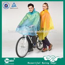 Contemporary waterproof disposable plastic ponchos