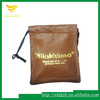 Logo hot stamped leather drawstring pouches