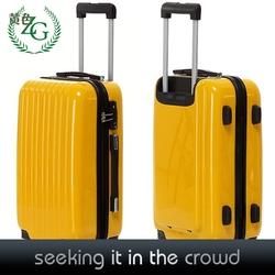Fashion Yellow Suitcase Luggage , PC Trolley Luggage ,Travel luggage on wheels