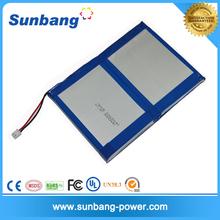 Deep cycle 2S1P tablet 7.4V lipo battery 8000mah ,8000mah battery for power bank