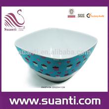 Heart & cake colorful melamine bowls