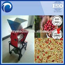 fresh cacao and coffee bean hulling machine