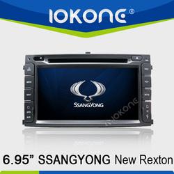 HD Touch screen ssangyong rexton 7 inch car dvd with gps, dvd, ipod, bluetooth, dvb-t