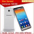 Lenovo s930 6 pollici smartphone grande schermo 3g Android 4.2 mtk6582 quad core telefono pera per la vendita