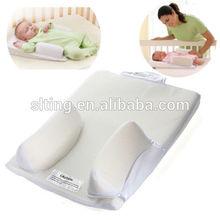 Baby Infant Newborn Sleep Positioner Prevent Flat Head Shape Anti Roll Pillow