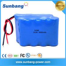 LED lamp battery 4S2P 14.8v 3000mah lithium ion battery pack
