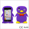 Cute Penguin Shaped 3D Silicone Case for iPod Touch 4 Purple-514