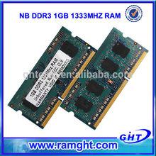Alibaba express ETT chips ram memory 1gb ddr3 sodimm 10600