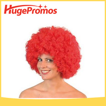 Custom Party Costume Wigs Glitzy Wigs Crazy Wigs Costumes Curly Red Wig